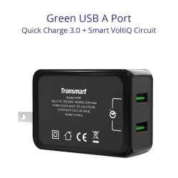 Tronsmart W2TF 36W Dual Port Qualcomm Quick Charge 3.0&VoltiQ Wall Charger