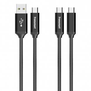 Tronsmart CPP7 Powerlink Braided Nylon USB C 2.0 Charging Syncing Cable 3.3 Feet 2 Pack
