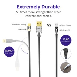 Tronsmart MUC01 Premium USB Cables 5 Pack with Gold-Plated Connectors