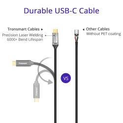 Tronsmart CPP10 Braided Nylon USB-C to USB-A 2.0 Charging & Syncing Cable (1 Feet*1, 3.3 Feet*1, 6 Feet*1/3 Pack)