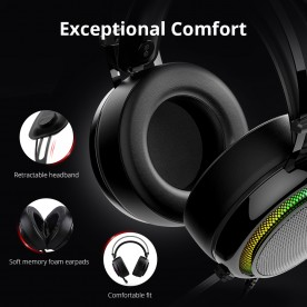 Glary Gaming Headset with 7 1 Virtual Sound - Tronsmart