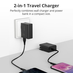 WPB01 2 in 1 Portable Travel Charger