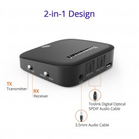 encore m1 bluetooth 2 in 1 audio transmitter and receiver tronsmart