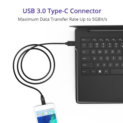 Tronsmart [2 Pack] CC02P USB3.0 Type-C Male to USB A Male Sync & Charging Cable (3.3 Feet, 1 x Black, 1x White)